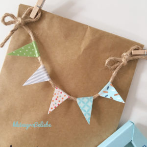 DIY Geburtstagseinladung Wimpelkette