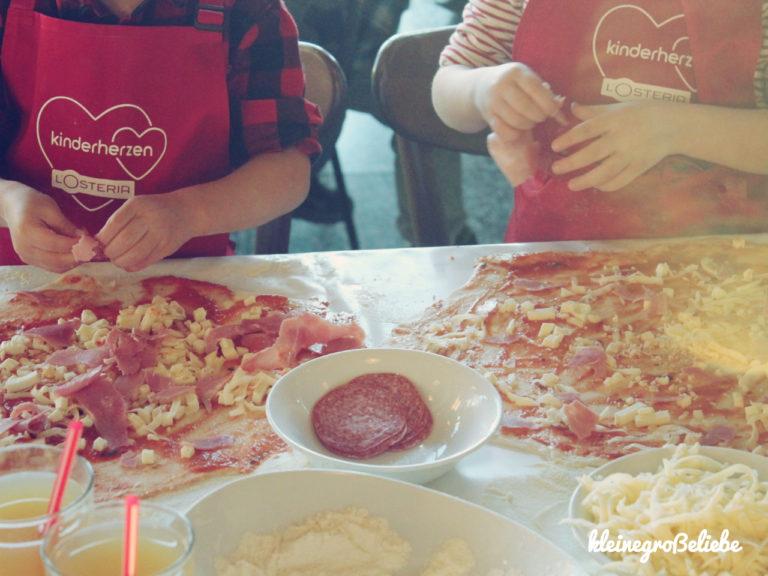 Pizzabacken für Herzfamilien - kinderherzen L'Osteria am Fischmarkt / Hamburg