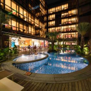 IBIS MacPherson Pool by Night