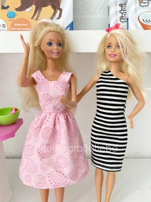 Barbiekleid rosa mit Trägern